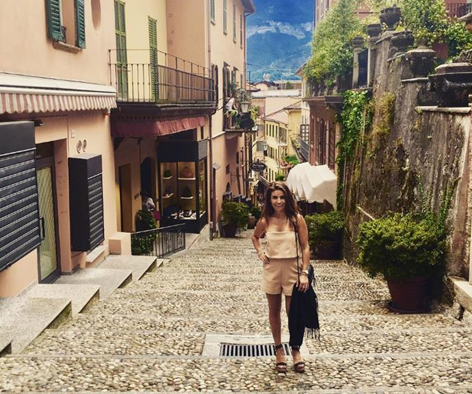 Ada explores the stunning streets of Lake Como.