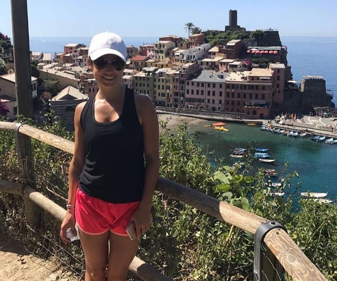 Ada walked from Monterosso to Corniglia.