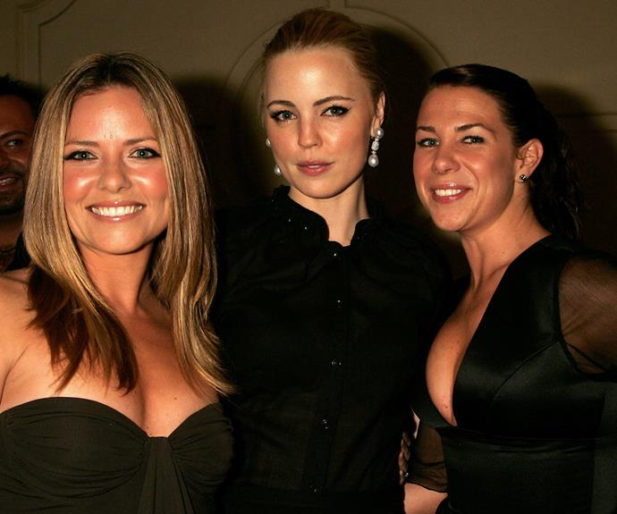 Toni rubbing shoulders with *Home And Away* alum Melissa George and Kate Ritchie in 2005.