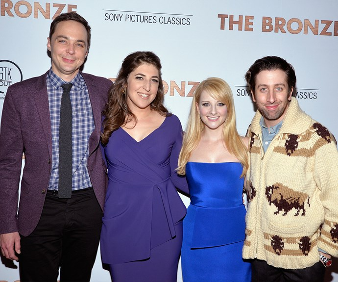 Melissa with her *Big Bang Theory* co-stars.