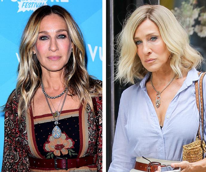 In a move Carrie Bradshaw would definitely approve of, Sarah Jessica Parker has chopped off her long, bronde locks for an edgy platinum lob. It's a fresh 'do for the *Sex and the City* alum, who hadn't parted from her signature silky waves in years.