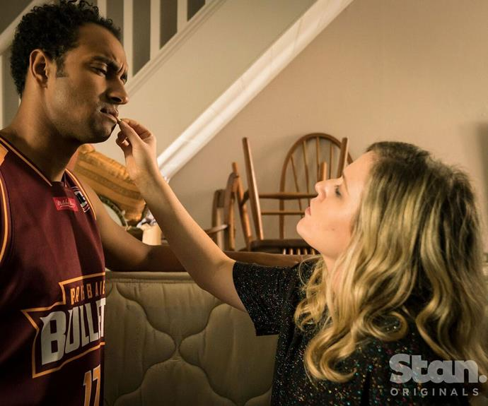 Matt Okine and Harriet Dyer in *The Other Guy*.
