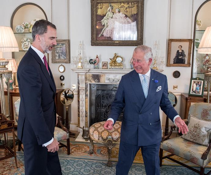 The future King opened up his home for his Spanish royal counterpart.