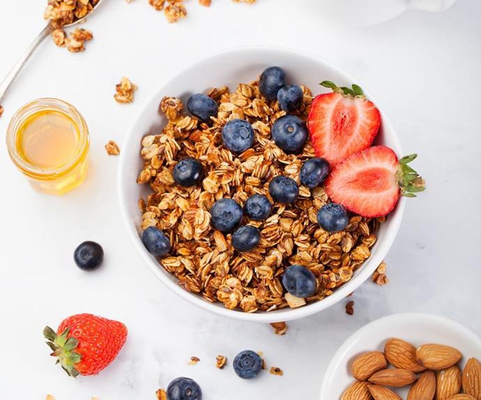 Oats make a delicious breakfast option.
