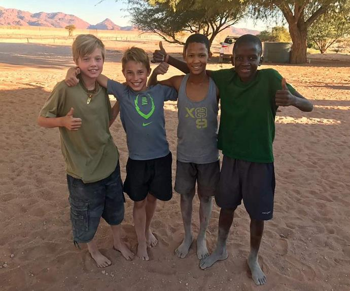 Shiloh had a blast on trip to Africa.