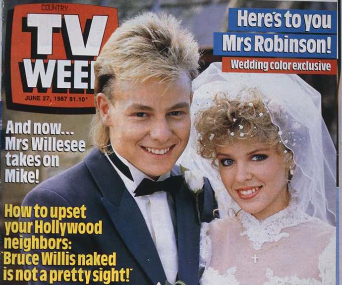 The wedding made the cover of TV WEEK in June 1987.