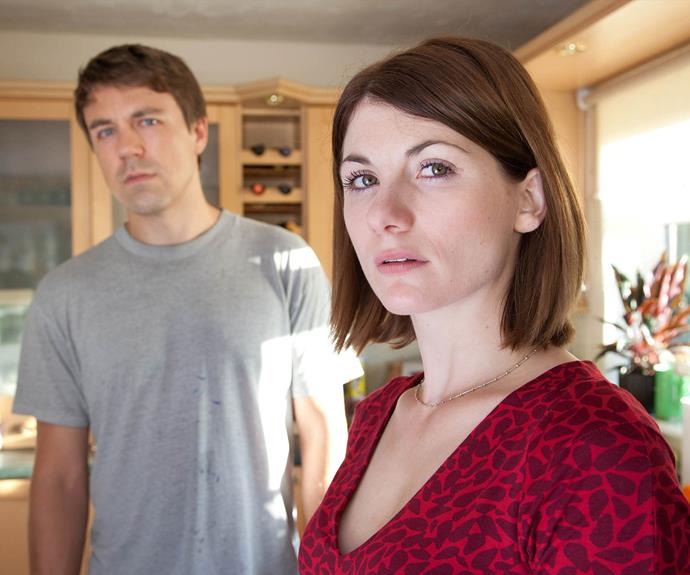 Jodie with her *Broadchurch* co-star Andrew Buchan.