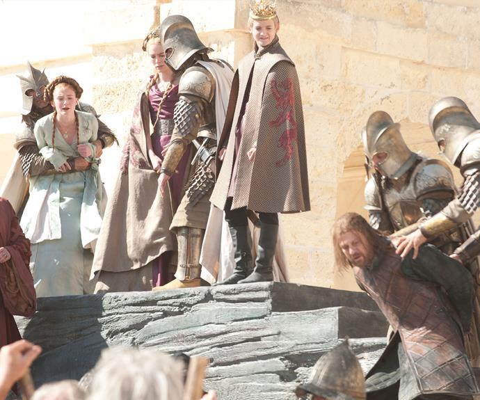 "**Eddard Stark is killed – season 1, episode 9 *""Baelor""***: In a bold move that no-one was expecting, the main character Ned (Sean Bean) was killed in season one. It proved that no character in the series was safe! Eddard lost his head after Joffrey (Jack Gleeson) ordered his execution."