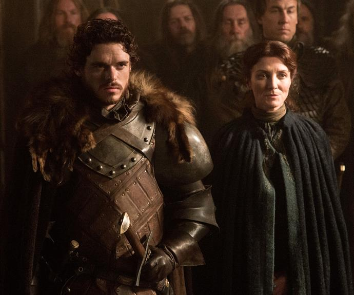 "**The Red Wedding – season 3, episode 9 *""The Rains Of Castamere""***: If you hadn't read the books and known this was coming, then it was THE biggest jaw-dropping moment the series has served up. Robb Stark (Richard Madden), his pregnant wife Talisa (Oona Chaplin) and his mother Catelyn (Michelle Fairley) were murdered at a wedding, later dubbed The Red Wedding."