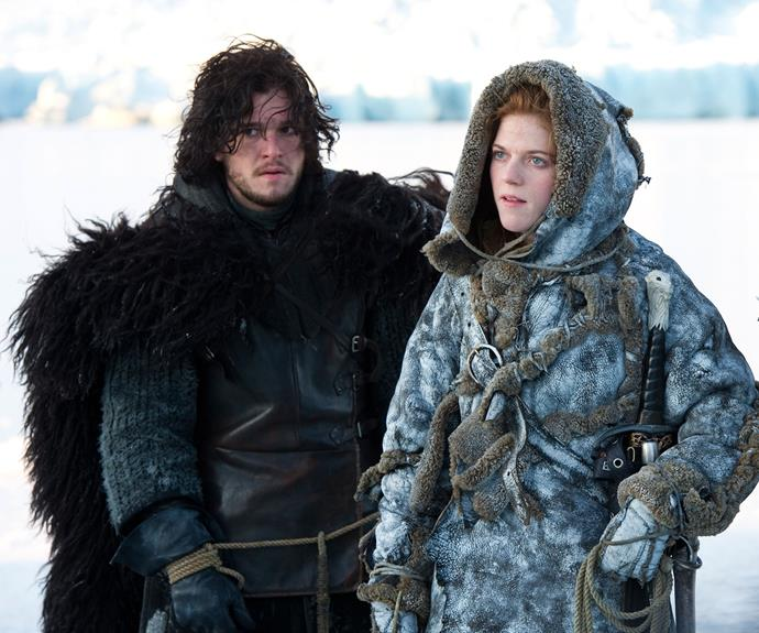 "**Star-crossed lovers – season 2, episode 6 *""The Old Gods And The New""***: Our favourite couple of the entire series has to be wildling Ygritte (Rose Leslie) and bastard Jon Snow (Kit Harrington). The two happen to meet when Jon and Qhorin Halfhand (Simon Armstrong) come across a group of wildlings. Ygritte becomes Jon's prisoner but eventually the two fall in love. Unfortunately it's an unhappy ending for this pair but it was lovely while it lasted."