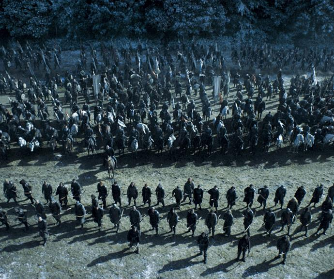"**The Battle – season 6, episode 9 *""Battle Of The Bastards""***: This epic battle could possibly be one of the most interesting scenes of TV ever. The scale of the production is insane and you feel as though you are right there with Jon (Kit Harrington) and his gang of wildlings as they get ready to take on the awful Ramsay Bolton (Iwan Rheon) and his army."