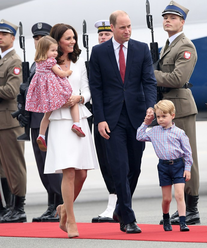The family toured Poland and Germany back in July.