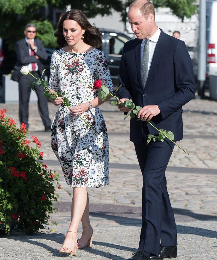 During the visit, William and Kate were shown discarded shoes, clothing and other personal items that once belonged to the prisoners
