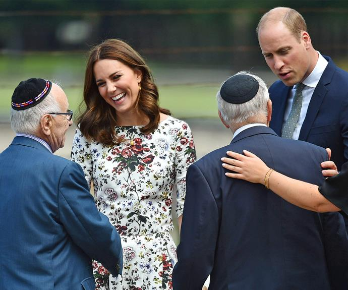 The royal couple had the chance to meet two survivors of the concentration camp, Manfred Goldberg and Zigi Shipper, both 87 from North London.