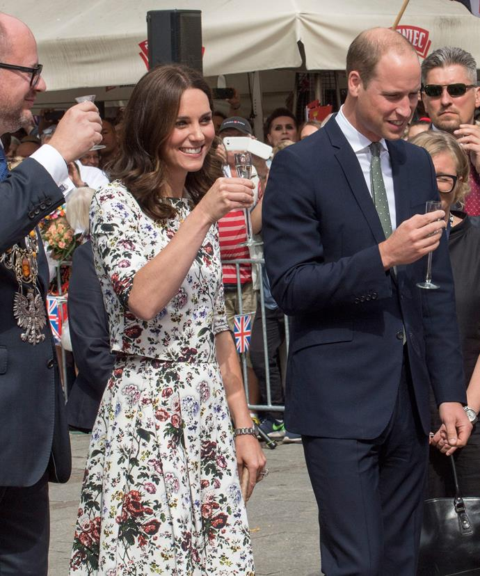 For Day 2, Kate turned to her favourite Canadian label ERDEM.