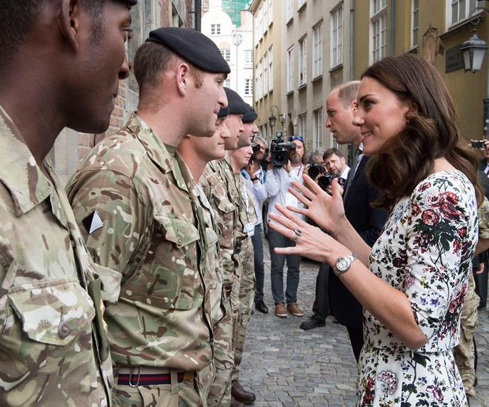Chatting to the local army.