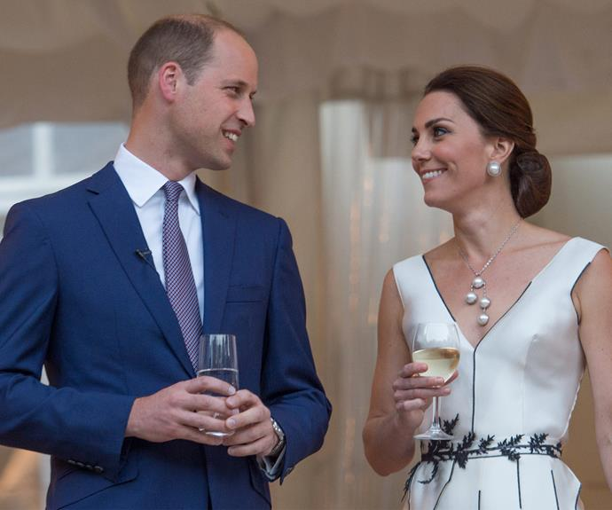 At the end of Day one, a garden party held in Warsaw in honour of William's grandmother, the Queen.