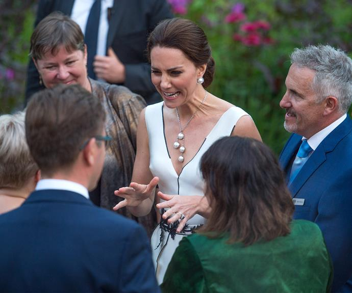 """While talking to fans, one young lady complimented Kate telling her she was """"beautiful"""" and """"perfect"""""""