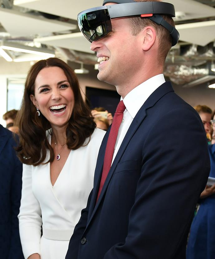 And Kate can't contain her giggles.
