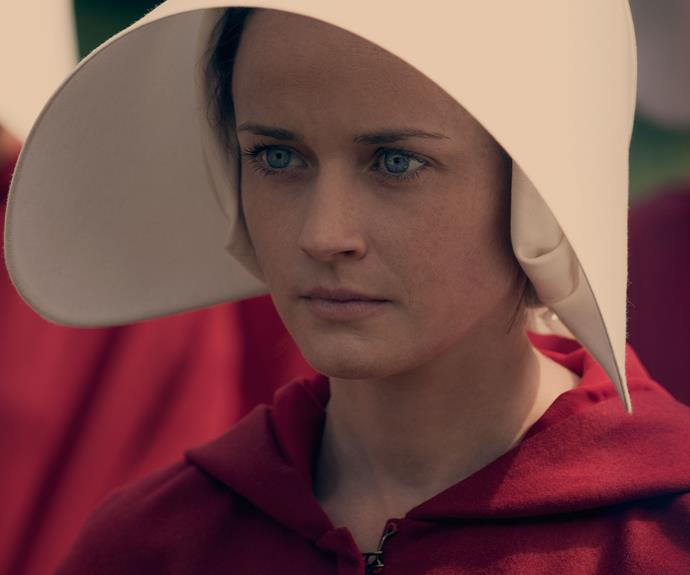 **Alexis Bledel:** *The Sisterhood Of The Travelling Pants* actress plays handmaid Ofglen, who's real name is Emily. Ofglen befriends Offred (Elisabeth Moss) and encourages her to join the resistance movement.