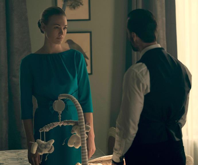 **Yvonne Strahovski:** Yvonne stars as The Commander's wife, Serena Joy.
