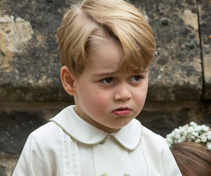 In fact, we saw his not fussed nature at Aunty Pippa's wedding.