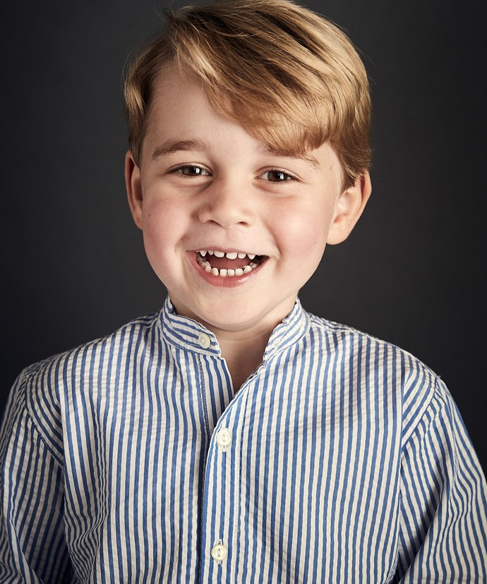 To mark his birthday, Kate and Wills released this stunning portrait of George.