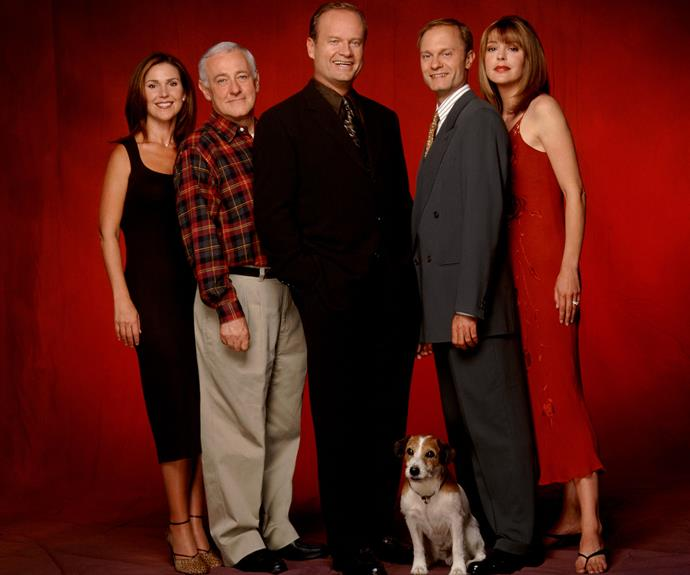 **Best: *Frasier –*** Dr Frasier Crane (Kelsey Grammer) first popped up in the beloved series ***Cheers*** and was a part of the show until it ended in 1993. The producers of *Cheers* masterfully moved the character into his very own show based in Seattle, where the psychiatrist relocated in order to pursue his career in radio. We're going to make a big call here and say that ***Frasier*** is **THE** best spin-off of all time, hands down. We fell in love with the new characters and Eddie is probably the cutest TV dog of all time… Did we also mention that it ran for 11 seasons? *Frasier* for the win!