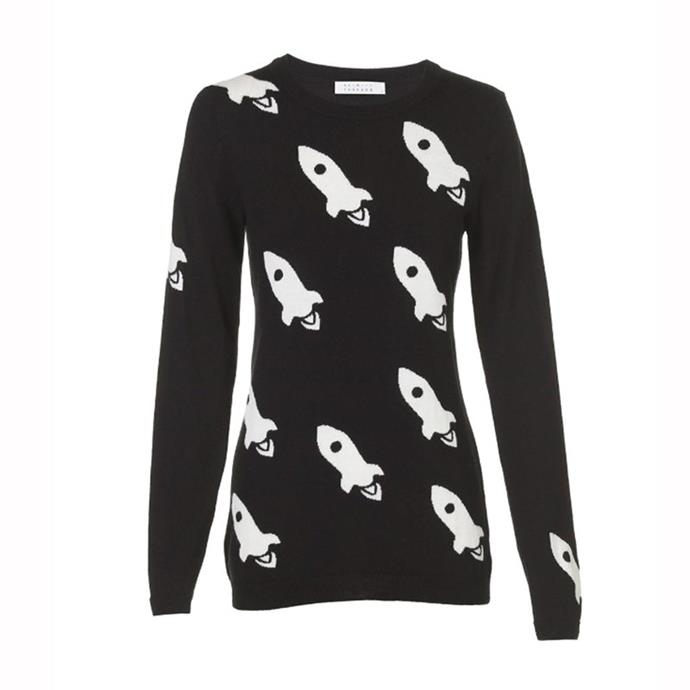 """Get your hands on one [here](http://www.skinandthreads.com/product/Rocket-knit-White-Black