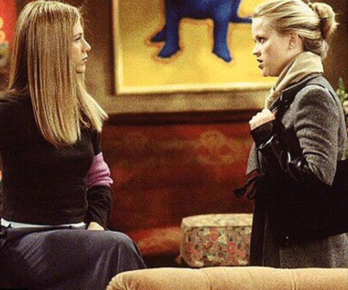 Jennifer and Reese as sisters in *Friends*.