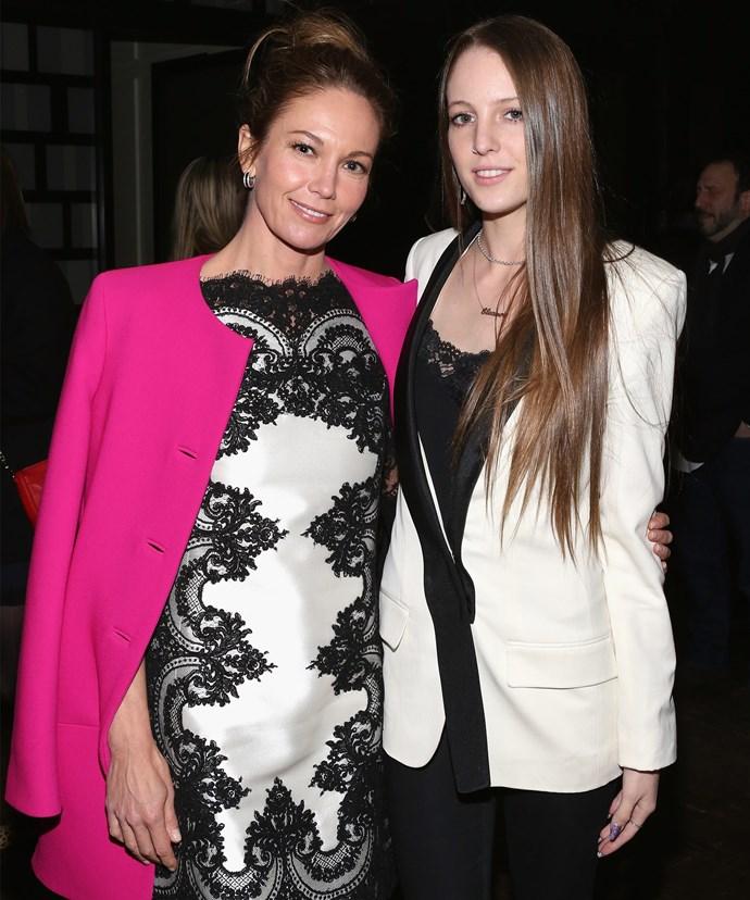 Diane with her daughter, Eleanor Lambert.