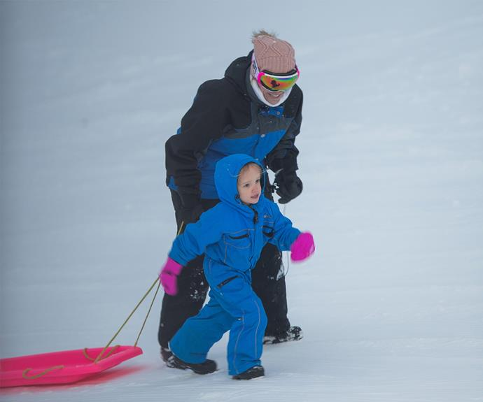 Looks like Trixie's a snowbunny already!