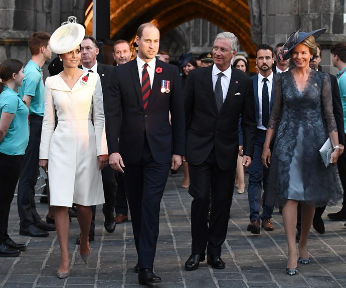Prince William and Princess Kate took their royal duties to Belgium.