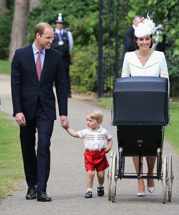 The Alexander McQueen ensemble was first worn by Kate at Princess Charlotte's christening in 2015.