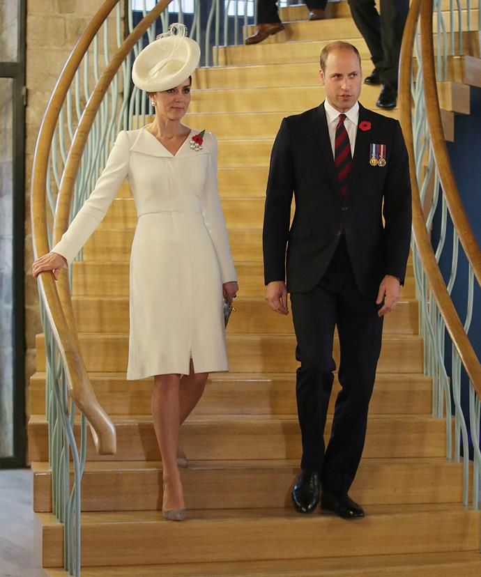 The royal couple joined soldiers at the Commonwealth War Graves Commission Ypres or Menin Gate Memorial.