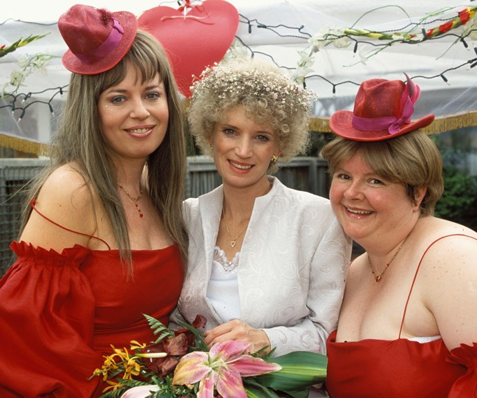 Kath on her wedding day.