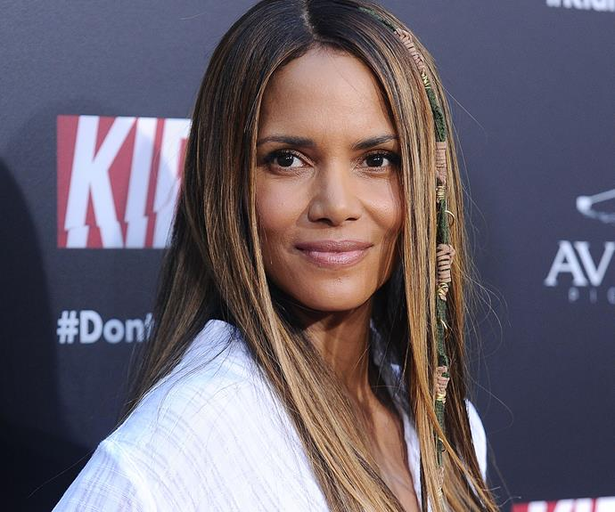 "Last time we saw Halle Berry, she was repping the most gorgeous [natural curls](http://www.nowtolove.com.au/beauty/hair/halle-berry-curly-hair-oscars-red-carpet-35458|target=""_blank""). When she appeared at the premiere of *Kidnap* at ArcLight Hollywood, the actress was rocking sleek, honey-hued strands and a hair-wrap to match. It's official: Halle wins Best Tressed. Every time."
