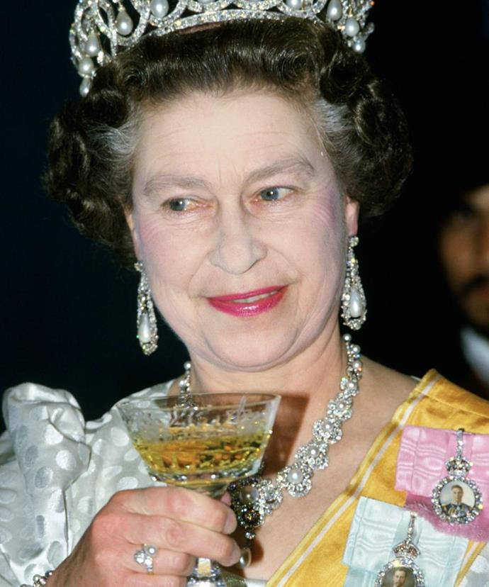 Her Majesty is said to enjoy a series of beverages each day.