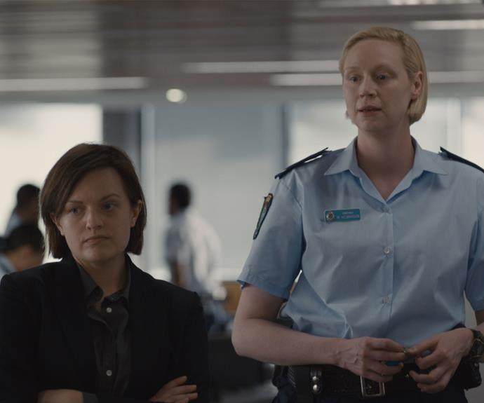 Elisabeth Moss and Gwendoline Christie in ***Top Of The Lake: China Girl***.