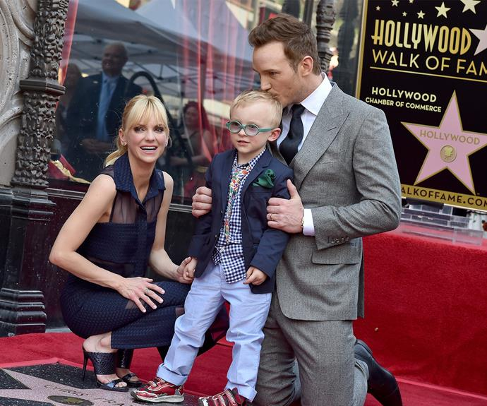 Anna and Chris with their gorgeous son in happier times.