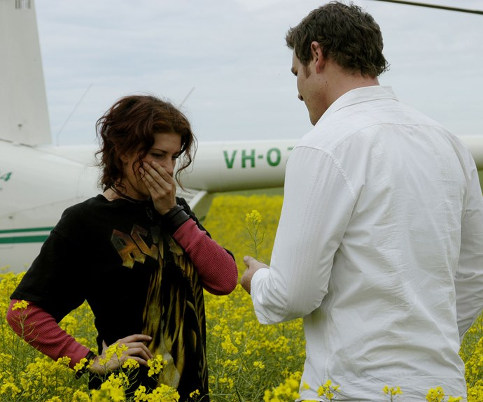 "**Alex and Stevie:** As far as romantic gestures go, flying your girlfriend via helicopter to a field of flowers to tell her, ""I don't ever want us apart again,"" is a smooth move."