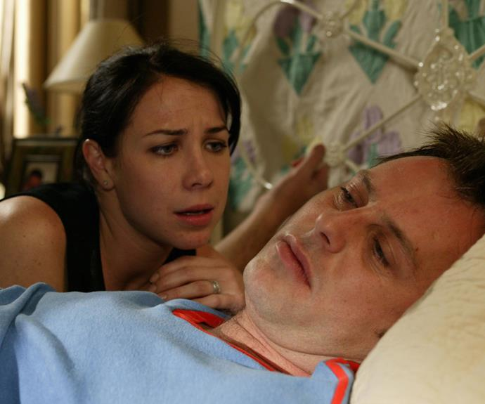 However, it wasn't to be for Sally and Flynn when the doctor was diagnosed with skin cancer. In one of the most emotional episodes ever, Flynn (Joel Mcllroy) said his goodbyes to Cassie (Sharni Vinson), Alf (Ray Meagher) and Rick (Mark Furze), and then he and Sally danced to their wedding song and he passed away in her arms a short time later.