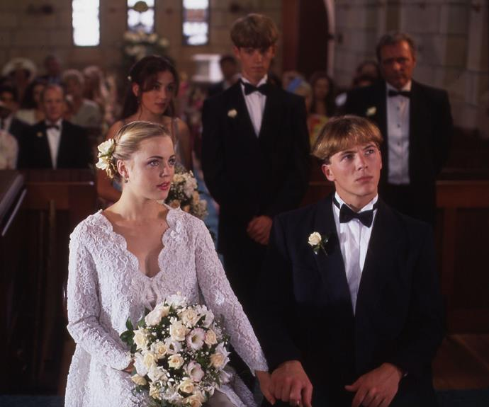 Shane and Angel were planning their wedding when Alf (Ray Meagher) accidentally ran Angel down with his car. This forced Angel to tie the knot in a wheelchair but she did manage to walk down the aisle. Whilst Angel was pregnant with the couple's child, Shane tragically passed away following a motorbike accident and he died in her arms.