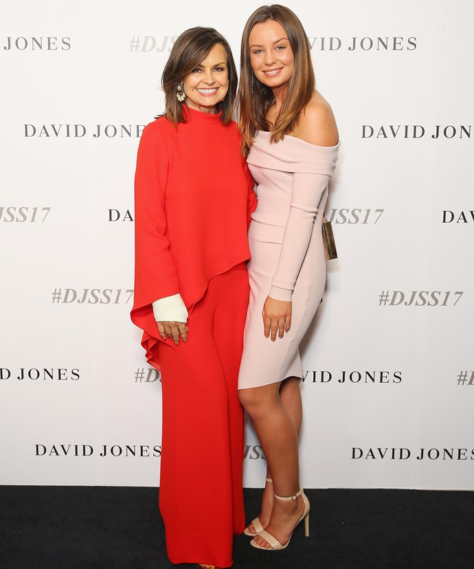 Lisa Wilkinson and daughter Billi Fitzsimons dropped by the David Jones Spring Summer launch.