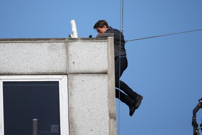 The actor was involved in a high-stakes stunt while on set of the action-packed sequel.