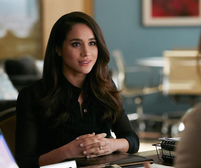 Markle plays Rachel Zane on *Suits*.