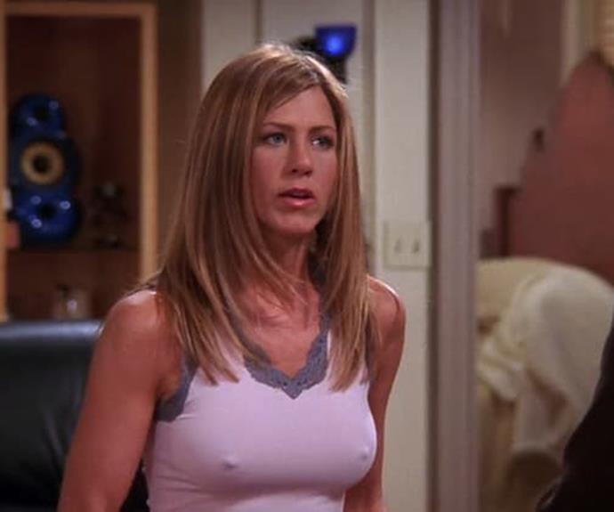 """""""I don't know why we're supposed to be ashamed of them — it's just the way my breasts are!"""" Jennifer Aniston."""