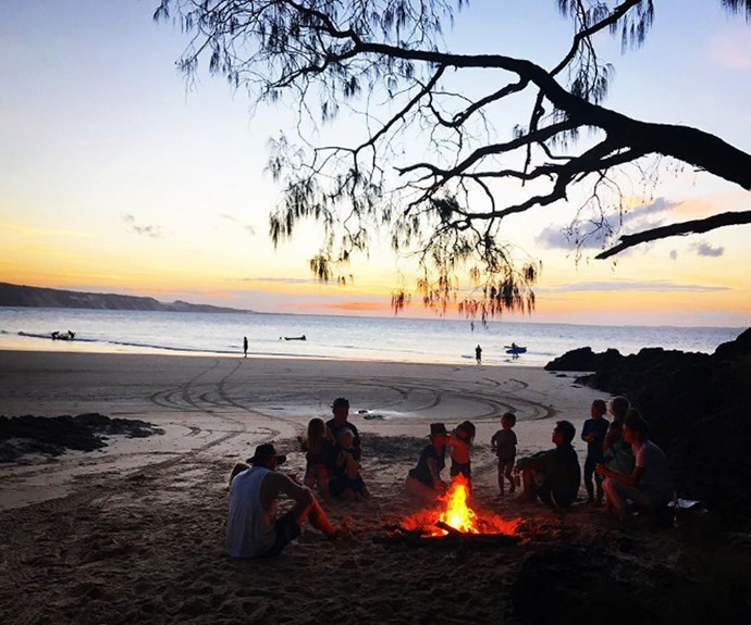 Even when they're at home in Byron Bay, life looks pretty idyllic.