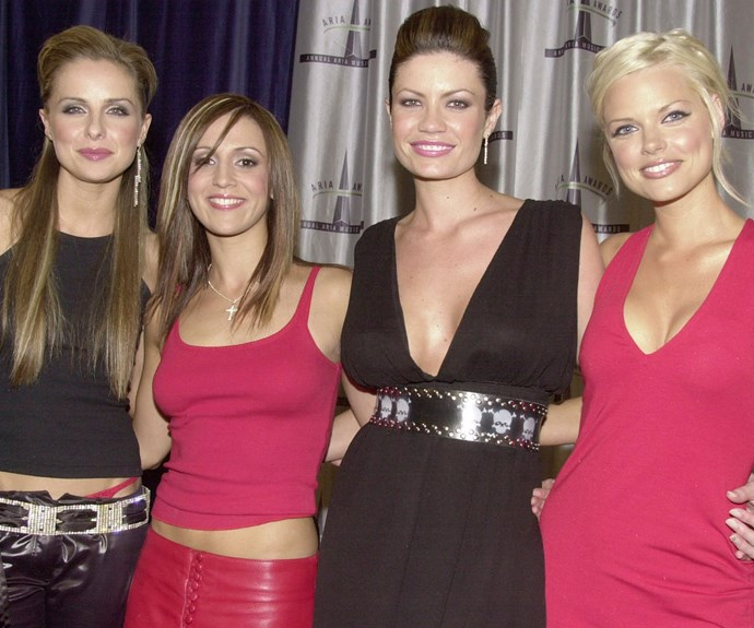 Sophie with her fellow bandmates (L-R) Belinda Chapple, Sally Polihronas and Tiffany Wood.