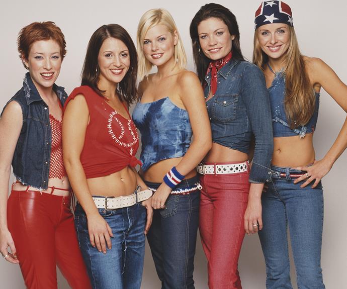 The Bardot squad. L-R: Katie Underwood, Sally Polihronas, Sophie Monk, Tiffani Wood and Belinda Chapple